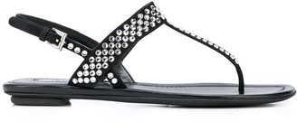 Prada crystal studded T-bar sandals