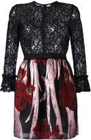 Christian Pellizzari floral lace mini dress