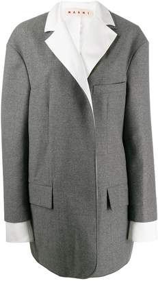Marni layered sleeve coat