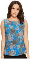 Tommy Hilfiger Sleeveless Knit Floral Bead Neck Top