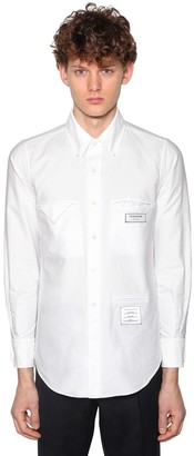 Thom Browne Straight Fit Cotton Oxford Shirt