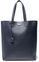 Saint Laurent Leather Tote - Navy