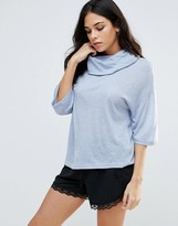 B.young Kimono Sleeve Roll Neck Top