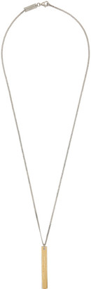 Maison Margiela Gold and Silver Pendant Chain Necklace