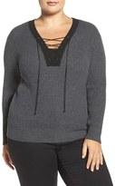 Tart Plus Size Women's Amity Lace-Up Merino Sweater