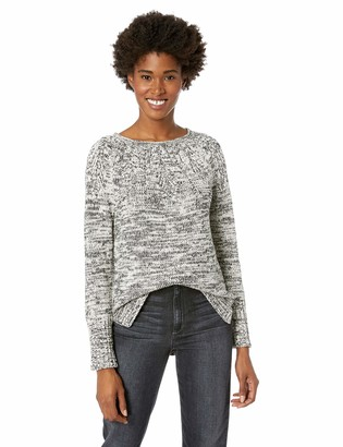 Chaps Women's Stitched-Yoke Crewneck Pull Over Long Sleeve Sweater
