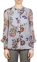 Erdem Floral-Print Silk Blouse