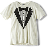 Junk Food Clothing Tuxedo Suit Tee in Ivory. - size 6/7 (also in 8)