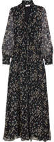 Paul & Joe Claudia Floral-print Silk-chiffon Maxi Dress - Navy