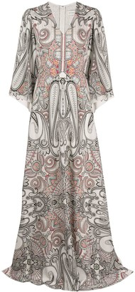 Etro paisley-print silk maxi dress