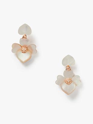 Kate Spade Precious Pansy Drop Earrings