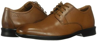 Clarks Bensley Lace (Dark Tan Leather) Men's Shoes