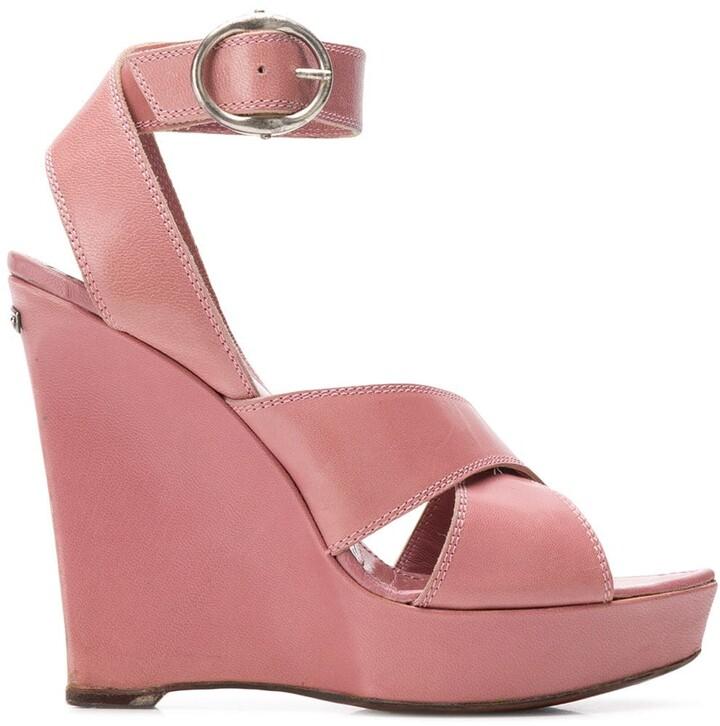 Saint Laurent Pre-Owned 2000's wedge sandals
