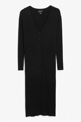 Monki Ribbed knit cardigan dress
