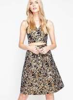 Miss Selfridge Petite animal print jacquard midi skirt
