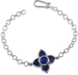 Emma Chapman Jewels Toyah Blue Enamel Bracelet