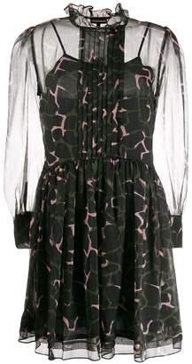 Emporio Armani floaty camouflage-print dress