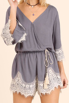 Umgee USA Romper With Lace