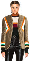 Etoile Isabel Marant Lalia Velvet Patch Jacket