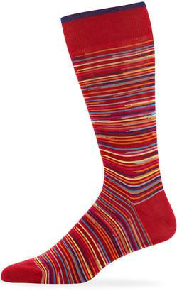 Bugatchi Men's Striped Dress Socks