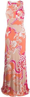 Emilio Pucci V-Neck Printed Maxi Dress