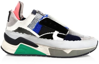 Diesel Brentha Deconstructed Mixed-Media Sneakers