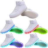 WAWEN Kids LED Sneakers 11 Colors Light Up Flashing Rechargeable shoes for Boys and Girls 10?US?