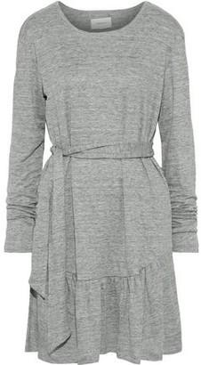 Current/Elliott The Crystal Belted Melange Linen-jersey Mini Dress