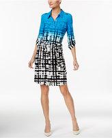 Calvin Klein Printed Belted Shirtdress