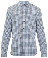 Prada Single-cuff Checked Cotton Shirt