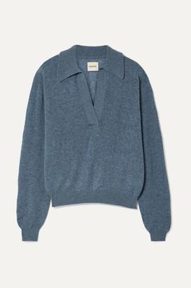 KHAITE Jo Cashmere-blend Sweater - Blue