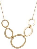 Rivka Friedman 18K Gold Clad Graduated Organic Link Station Necklace