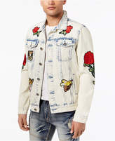 Reason Men's Parkhill Rose Patch Denim Jacket