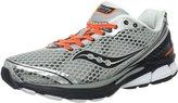 Saucony Men's Triumph 10 Running Shoe,Silver/Black/Orange