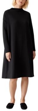 Eileen Fisher Long-Sleeve Shift Dress