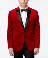 Bar III Men's Slim-Fit Red Velvet Sport Coat, Only at Macy's