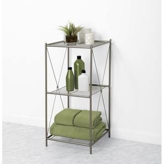 Online Zenna Home 3-Tier Floor Shelf, Satin Nickel