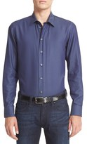 Armani Collezioni Men's Twill Cotton Sport Shirt