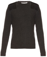 Valentino Felt-patch Wool And Cashmere-blend Sweater