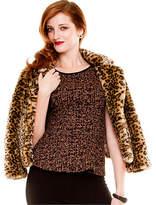 Le Château Leopard Print Faux Fur Jacket