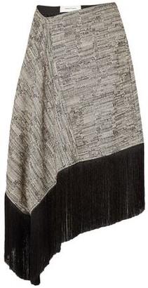 Marques Almeida Marques' Almeida Asymmetric Fringe-trimmed Cotton-blend Tweed Midi Skirt
