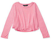 Ralph Lauren Girls 2-6x Long Sleeve Striped Tee