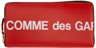 Comme des Garçons Wallets Red Huge Logo Continental Wallet