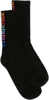 Versace Greca knitted socks