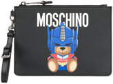 Moschino teddy bear clutch bag - women - Calf Leather/Leather - One Size