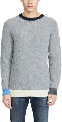 Howlin' Behind The Light Contrast Cuff Sweater