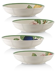 Villeroy & Boch French Garden Modern Fruit Pasta Bowls, Set of 4