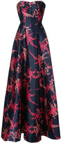 Oscar de la Renta evening gown with print - women - Silk/Cotton - 4