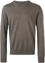 Maison Margiela classic knitted sweater - men - Cotton/Leather/Wool - M