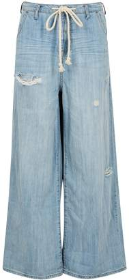 One Teaspoon Oneteaspoon Bad Boys Light Blue Wide-leg Jeans